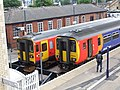 153326 & 156406 at Lincoln railway station, England - DSCF1317.JPG