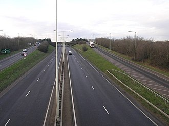 A15 road (England) - The A47 junction near Dogsthorpe