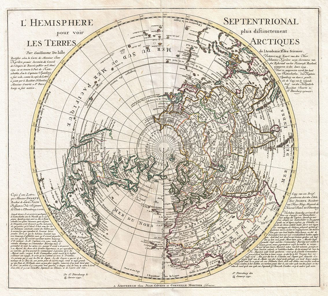 File1741 Covens and Mortier Map of the Northern Hemisphere