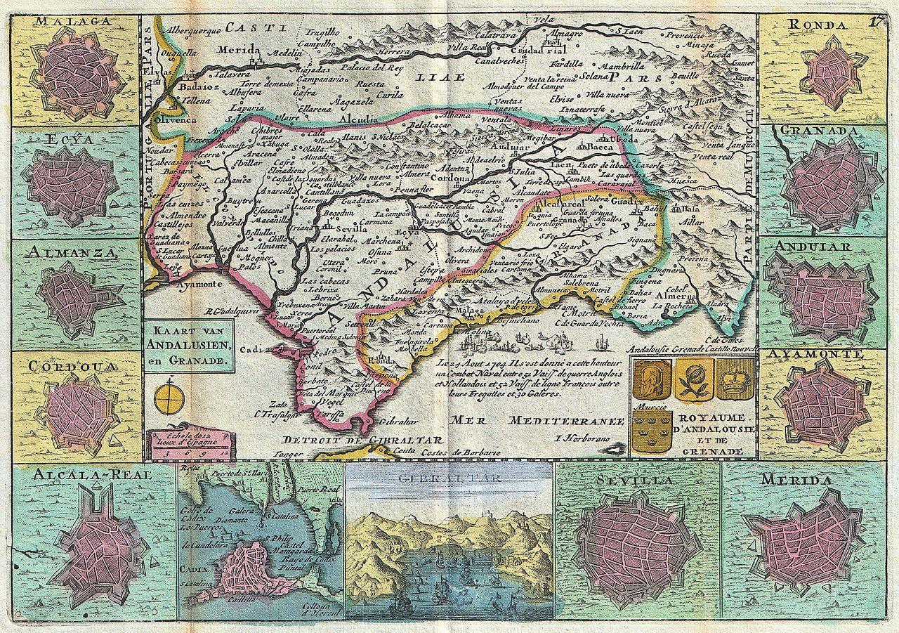 File:1747 La Feuille Map of Andalusia, Spain (Sevilla