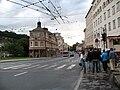 1786 - Salzburg - Schwarzstrasse at Platzl.jpg