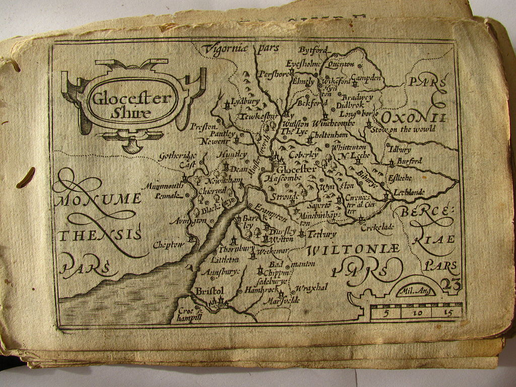 File17th Century map of GloucestershireJPG  Wikimedia Commons