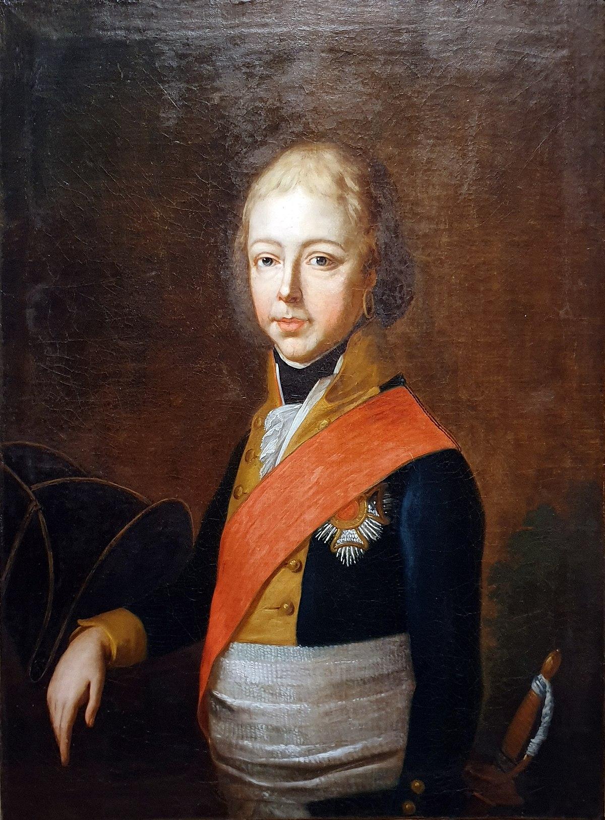 1800 Hauber Herzog Pius August in Bayern Historisches Museum Bamberg anagoria.jpg