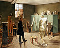 1834 Ferdinand Tellgmann, Im Atelier, Öl auf Leinwand 79 x 97,5 cm, Museumslandschaft Hessen Kassel.jpg