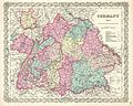 1855 Colton Map of Bavaria, Wurtemberg and Baden, Germany - Geographicus - Germany3-colton-1855.jpg