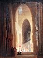 1870 Spitzweg Kircheninneres mit Prozession anagoria.JPG