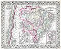 1874 Mitchell Map of South America, Brazil, Bolivia, Papaguay, Uruguay and Chili. - Geographicus - Brazil-m-1874.jpg
