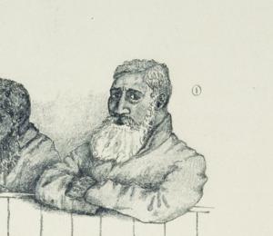 Tītokowaru - Tītokowaru during a trial in Wellington.
