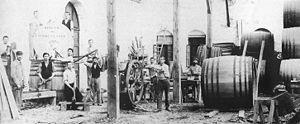 Zikhron Ya'akov - Building wine barrels, 1890s