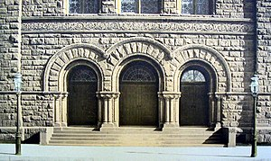 West-Park Presbyterian Church - Amsterdam Avenue facade entrance, 1889