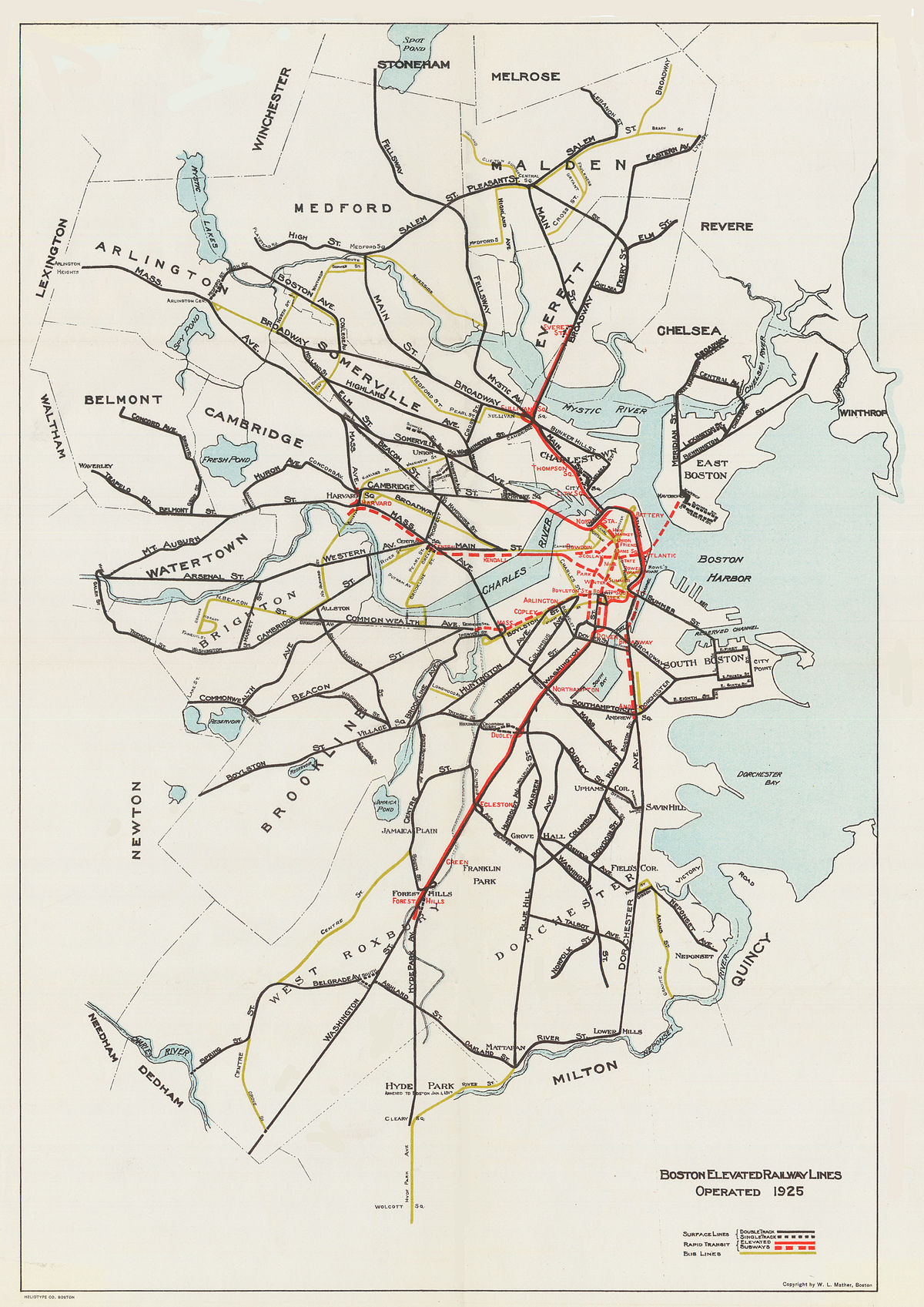train in boston map Boston Elevated Railway Wikipedia train in boston map