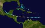 1941 Central American hurricane track.png