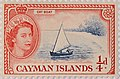 1950 one farthing Cayman Island postage stamp.jpg