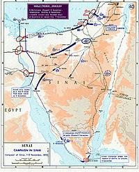 1956 Suez war - conquest of Sinai.jpg