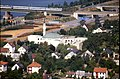 196R24180890 Blick vom Donauturm, Nordbahnbrücke, Schnellbahngarnitur, Lok 4020, Donauuferautobahn.jpg