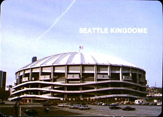 Kingdome - Exterior of the Kingdome in 1985