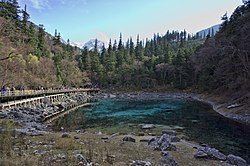 1 jiuzhaigou valley five colour pond 2011.JPG