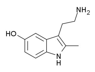 2-Methyl-5-hydroxytryptamine - Image: 2 Methyl 5 hydroxytryptamine