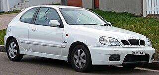 Daewoo Lanos subcompact car manufactured by Daewoo