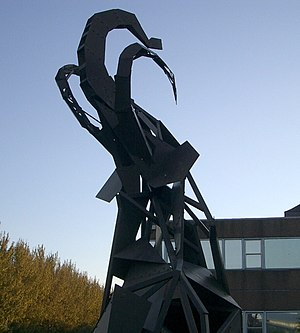 Nottingham Trent University - Mammoth sculpture outside Erasmus Darwin building