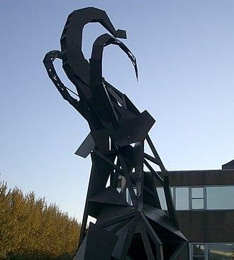 Nottingham Trent University - Mammoth sculpture outside Erasmus Darwin building