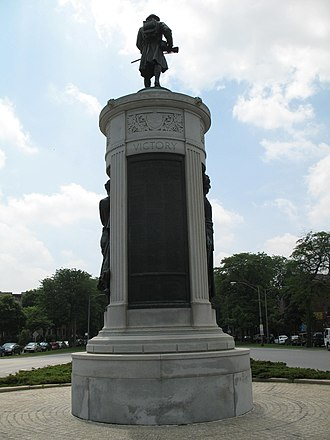 Victory Monument (Chicago) - Image: 20070601 Victory Monument (3)
