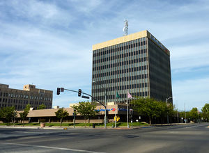 Bakersfield, California - Truxtun Tower, also referred to as the Bank of America Building, is the tallest in downtown and the second tallest building in Bakersfield.