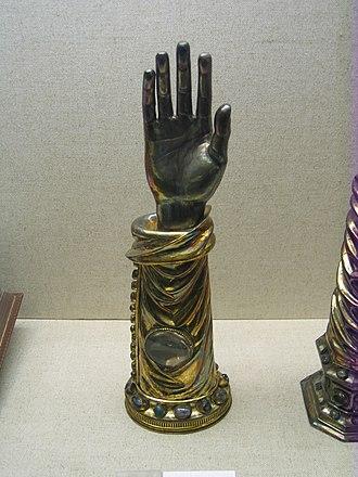 Gorgonius - Arm reliquary of St. Gorgonius of Nicomedia at Minden Cathedral.