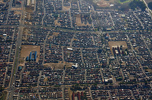 Mitchells Plain - Aerial view of Mitchell's Plain