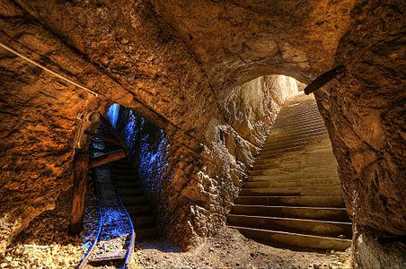 Access to the underground gunpowder room, in th Fort du Mont Bart, Bavans, France.