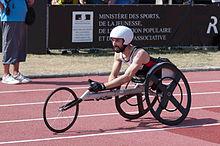 Brent Lakatos nella gara 100m T53 dei Campionati mondiali di atletica leggera IPC 2013.