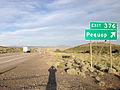 2014-06-10 19 07 38 Sign for Exit 376 along eastbound Interstate 80 and southbound Alternate U.S. Route 93 near Pequop, Nevada.JPG