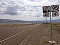 2014-07-28 11 27 28 View south along U.S. Route 95 at the junction with Nevada State Route 361 (Gabbs Valley Road) in Mineral County, Nevada.JPG