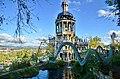 2014 Bruno Weber Park - Villa, Hausteich mit 'Schlangenbrücke' und Limmattal ... hoffentlich mit Wiedereröffnung nach Oktober 2014-10-17 16-19-46.JPG