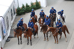 Crime in Belgium - Belgian mounted police.