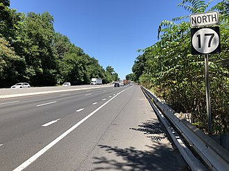 Saddle River, New Jersey - Route 17 northbound in Saddle River