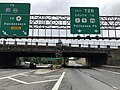 2018-07-22 10 02 57 View south along Interstate 95 (Bergen-Passaic Expressway) at Exit 72B (SOUTH U.S. Route 1 and U.S. Route 9, To U.S. Route 46, Palisades Park) in Fort Lee, Bergen County, New Jersey.jpg