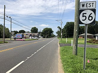 Deerfield Township, New Jersey - Route 56 westbound in Deerfield Township