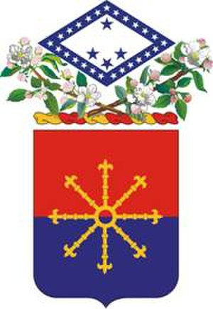 206th Field Artillery Regiment - Coat of arms
