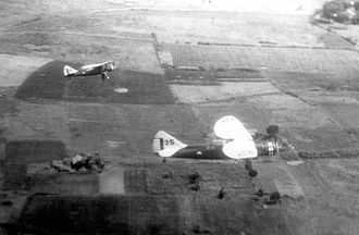 2d Air Refueling Squadron - 2d Observation Squadron Douglas O-46s in flight over Luzon, Philippines, 1938.