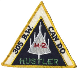 305th Air Mobility Wing - 305th Bomb Wing (B-58) Hustler aircrew patch