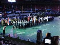 4-daagse Nijmegen 2011 Vlaggenparade 26, in opstelling.JPG