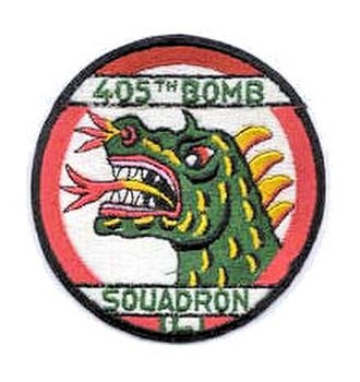 405th Tactical Missile Squadron - Emblem of the USAFE 405th Tactical Bombardment Squadron