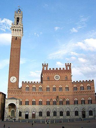 Palazzo Pubblico - Palazzo Pubblico and Torre del Mangia.