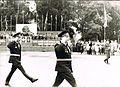 6-я гв. мсд. Обход парадного строя. Комдив А. Дорофеев и начштаба В. Кулаков..Бернау ГДР 1984..jpg