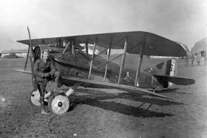 1st Operations Group - 94th Aero Squadron, Capt Edward V Rickenbacker with SPAD XIII.