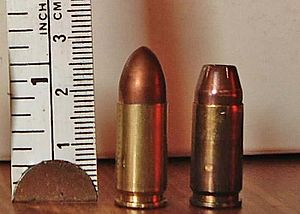 Rim (firearms) - Rimless 9mm Parabellum pistol cartridges