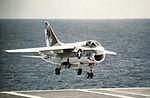 A-7E Corsair of VA-81 lands on USS Forrestal (CVA-59) c1973.jpg
