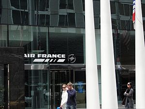125 West 55th Street - The 120 West 56th Street entrance in 2009, indicating an Air France ticket office that was there, but is no longer