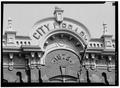 ARCHED PARAPET, CENTRAL BAY - City Library, Grand Street, Newburgh, Orange County, NY HABS NY,36-NEWB,9-3.tif
